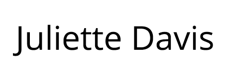 Juliette J Davis